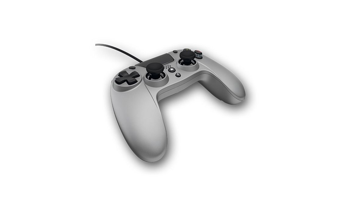 Gioteck Playstation 4 VX-4 Wired Controller (Silver)