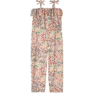 Bonpoint Multi Floral Print Frill Jumpsuit Rosa 4 år