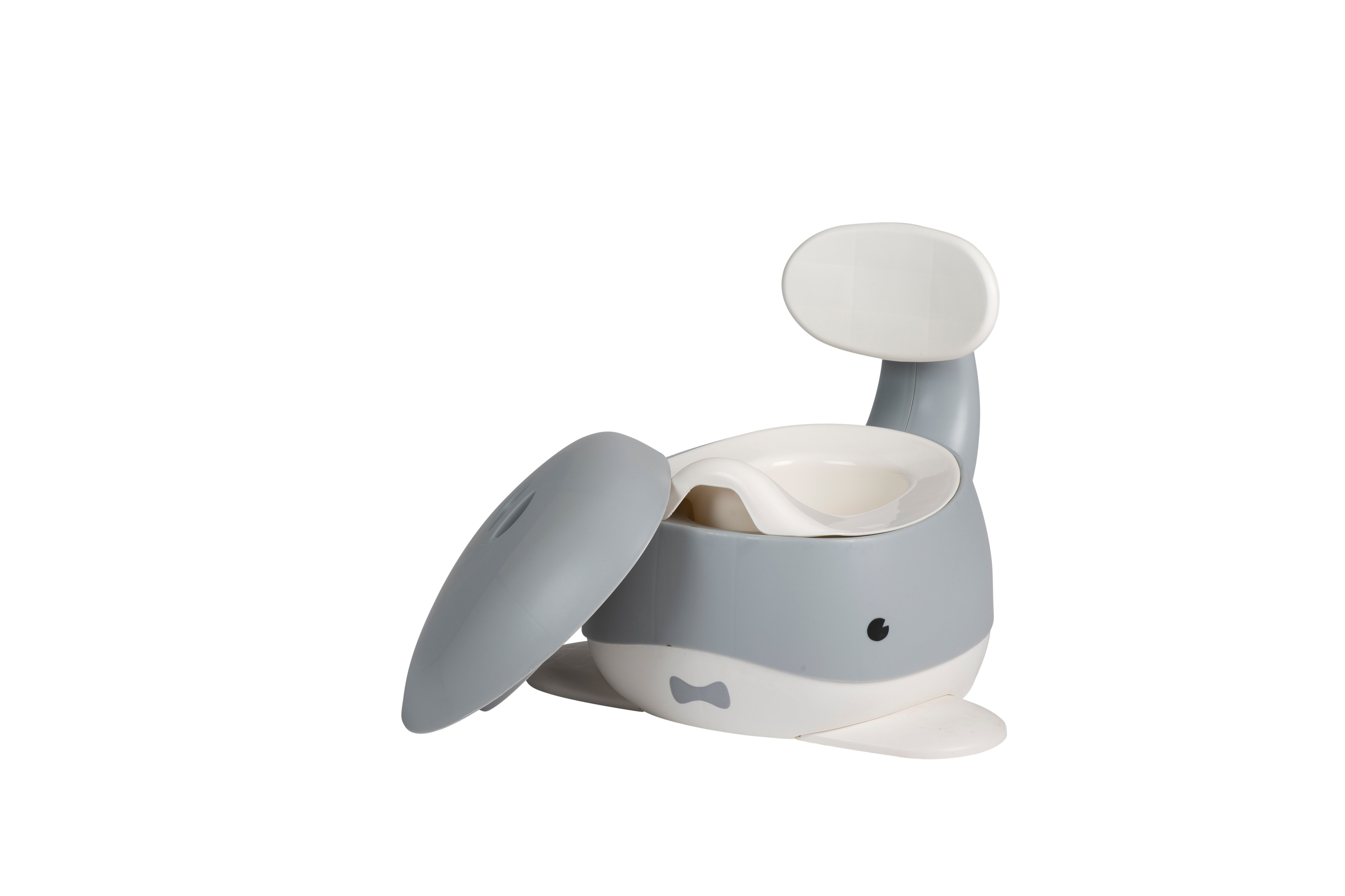 Babytrold - Baby Whale Potty - White and Grey