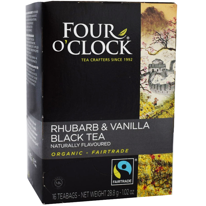 Te Rabarber Vanilj, Eko Fairtrade 16p - 38% rabatt