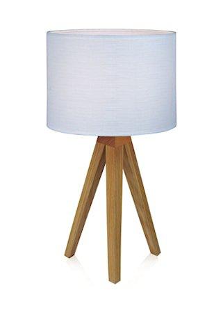 Kullen Bordlampe Eik/Hvit 22,5 cm
