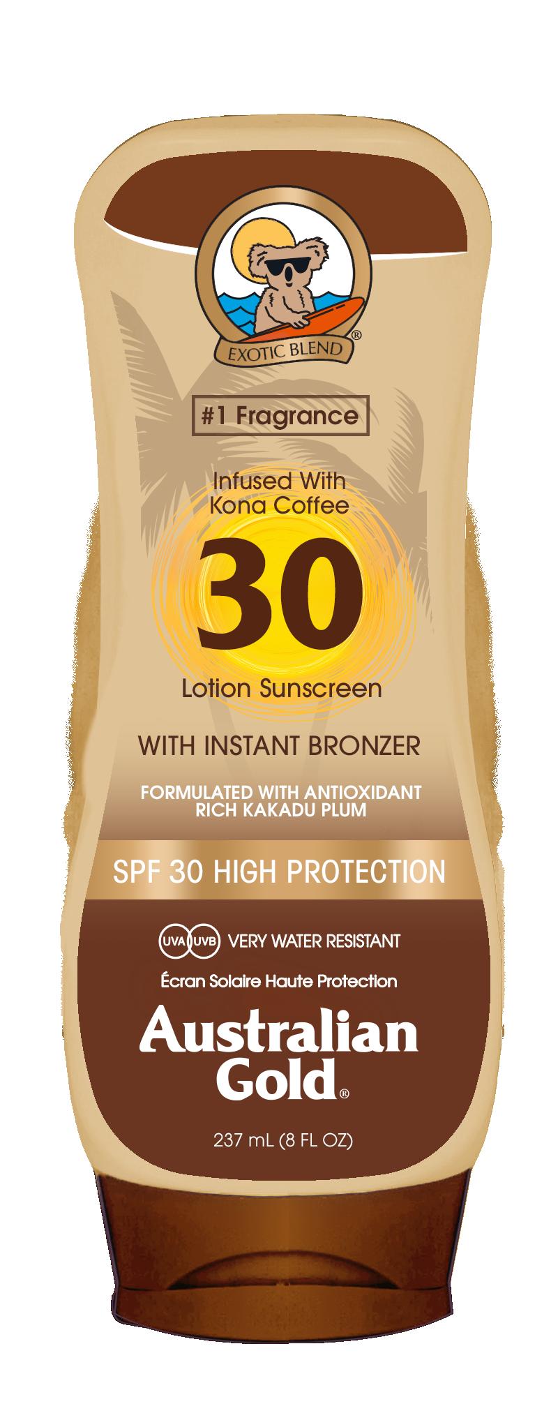 Australian Gold - Sunscreen Lotion with Bronzer SPF 30 237 ml