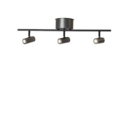 Cato Skinne Oksidert grå 3-spot Dimbar LED