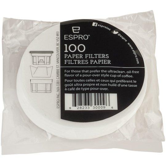 Espro 100 stk. pappersfilter till 0,25 liter