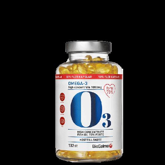Omega3 Forte 70% 1000 mg, 132 kaps