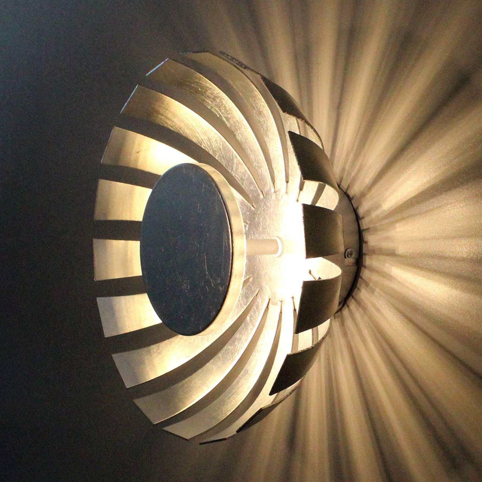 LED-vegglampe Flare Small, sølv