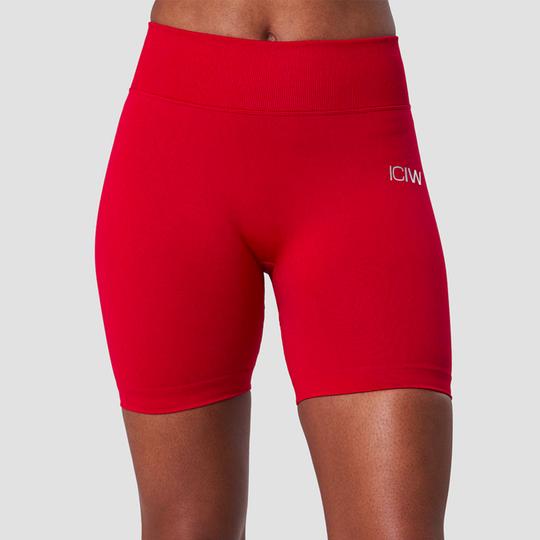 Scrunch Seamless Shorts, Deep Red