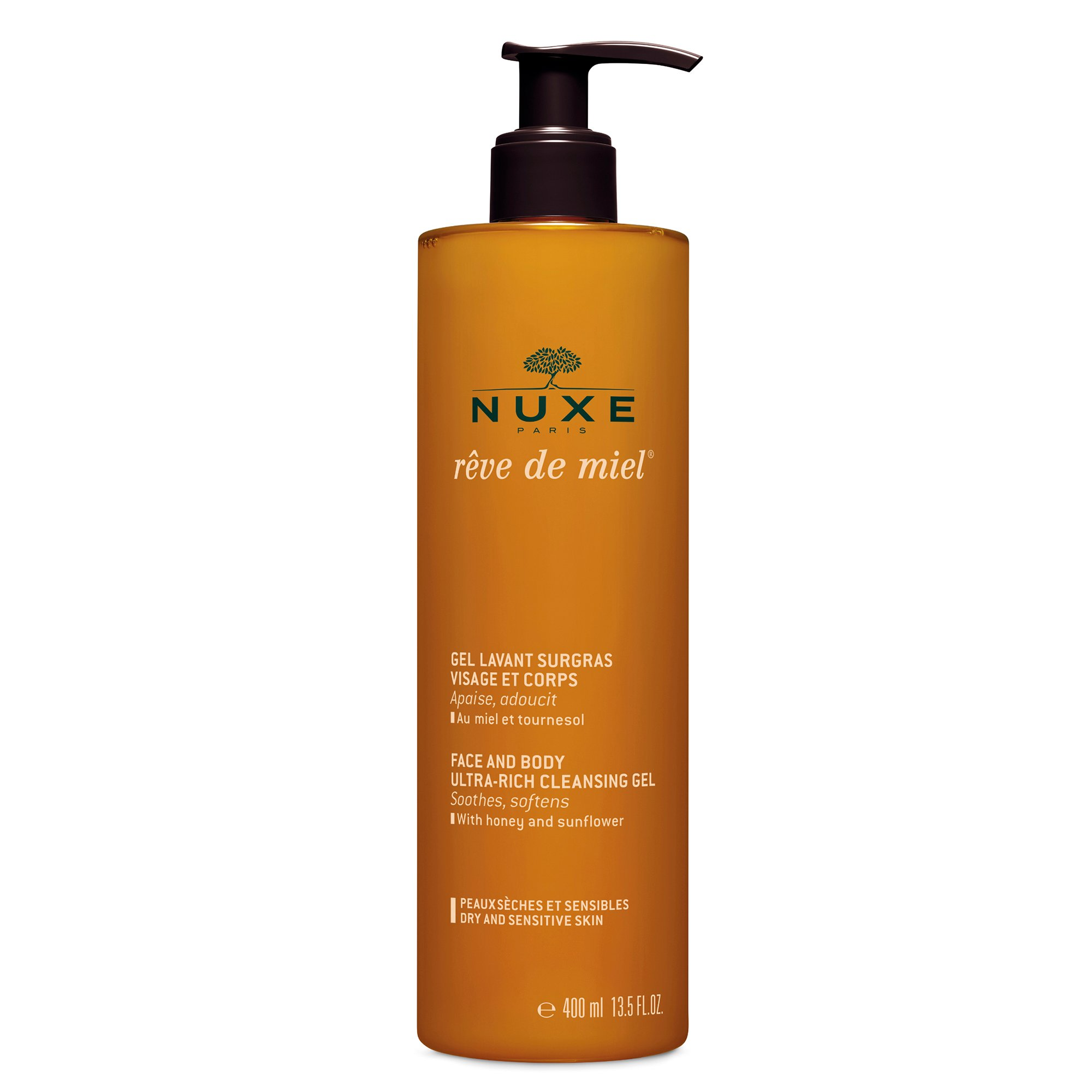 Nuxe - Rîve de Miel Rich Cleansing Gel for Face and Body 400 ml.