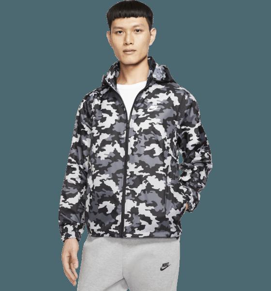 Nike M Ce Jkt Hd Windbreaker Camo Jackor BLACK/SUMMIT WHITE