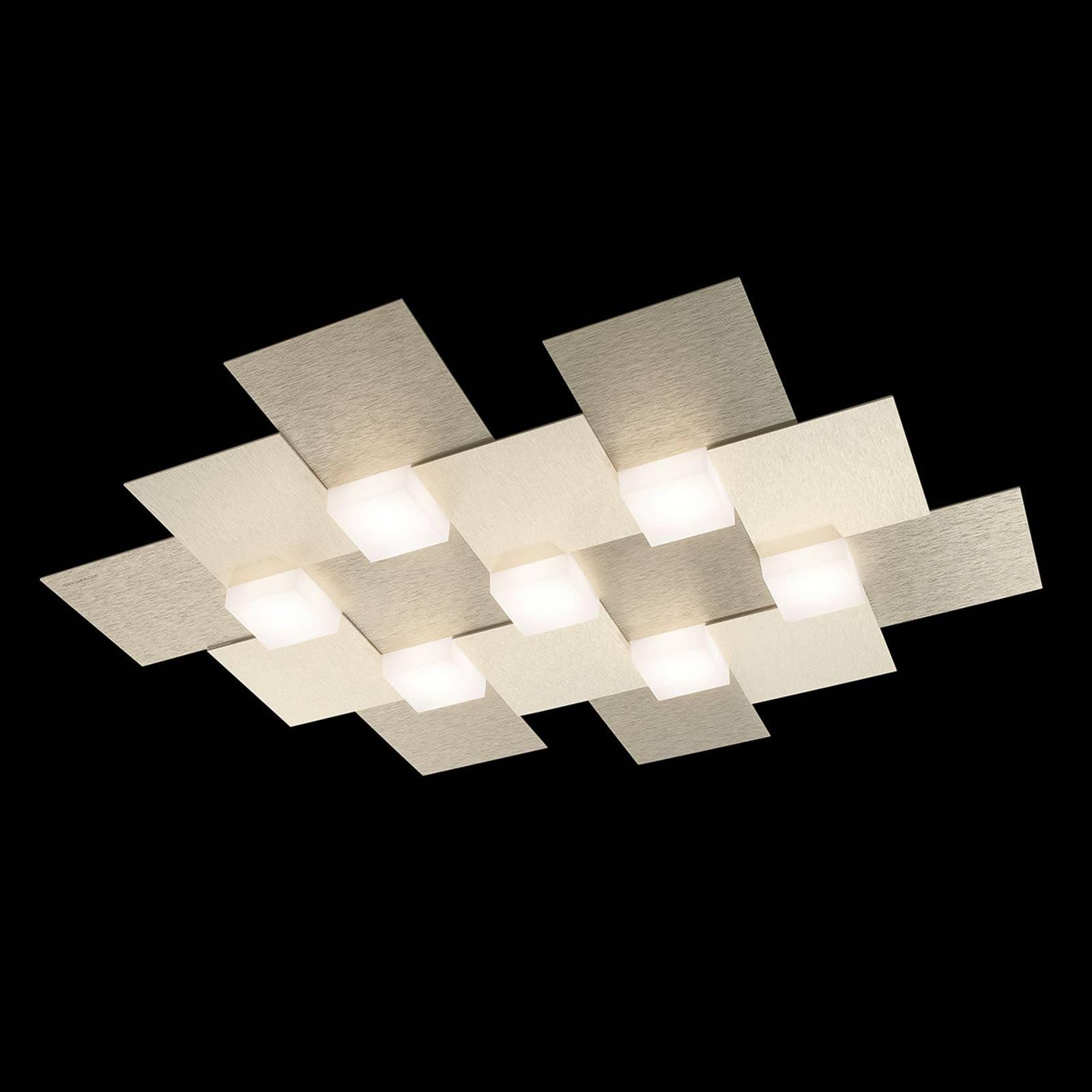 GROSSMANN Creo LED-taklampe 7 lys champagne