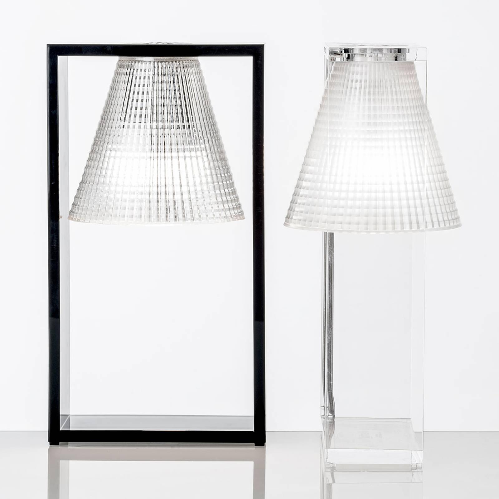 Design-LED-pöytälamppu Light-Air, musta/läpinäkyvä