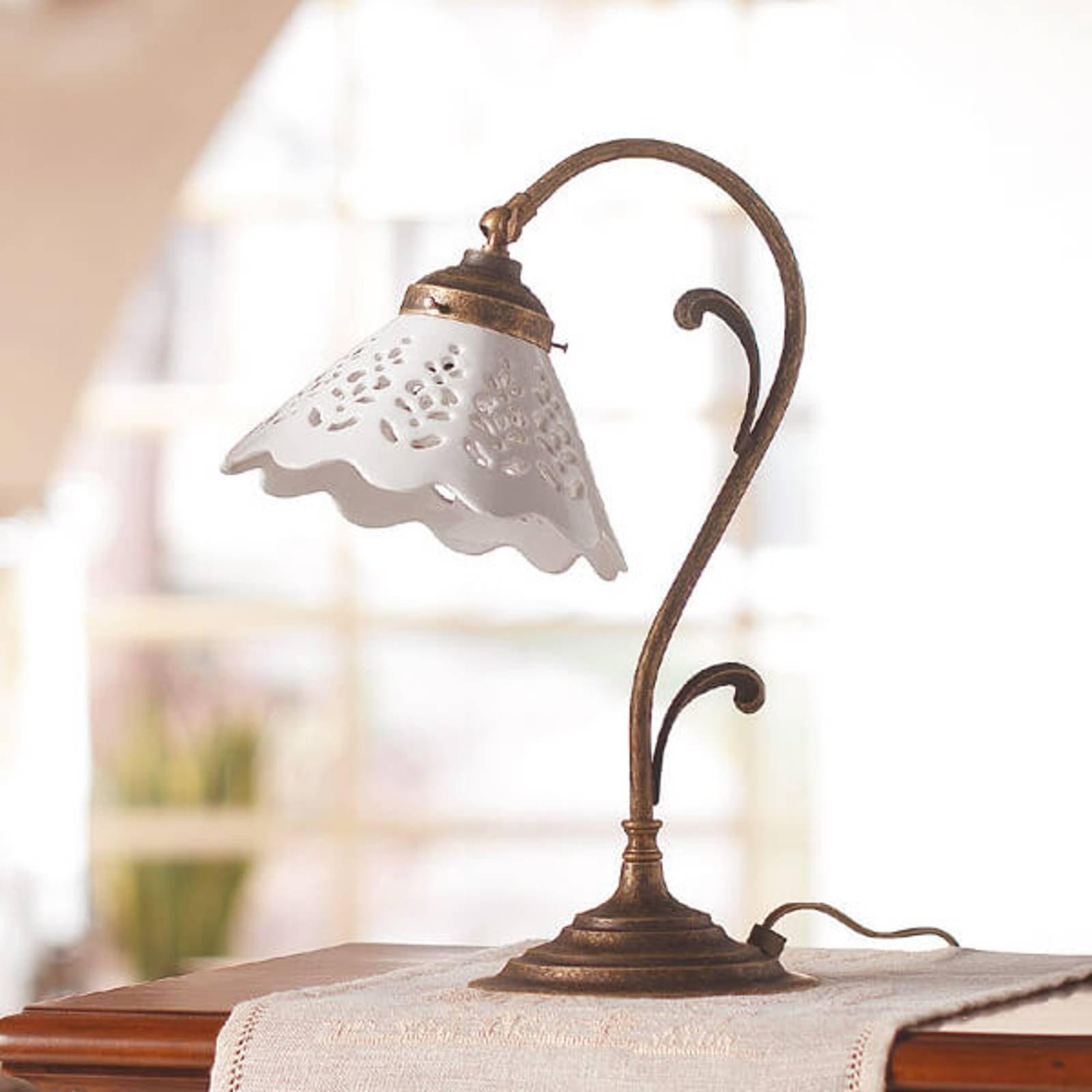 Bordlampe Semino med keramikkskjerm