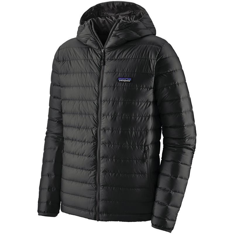 Patagonia Down Sweater Hoody XL Hettejakke, herre, Black