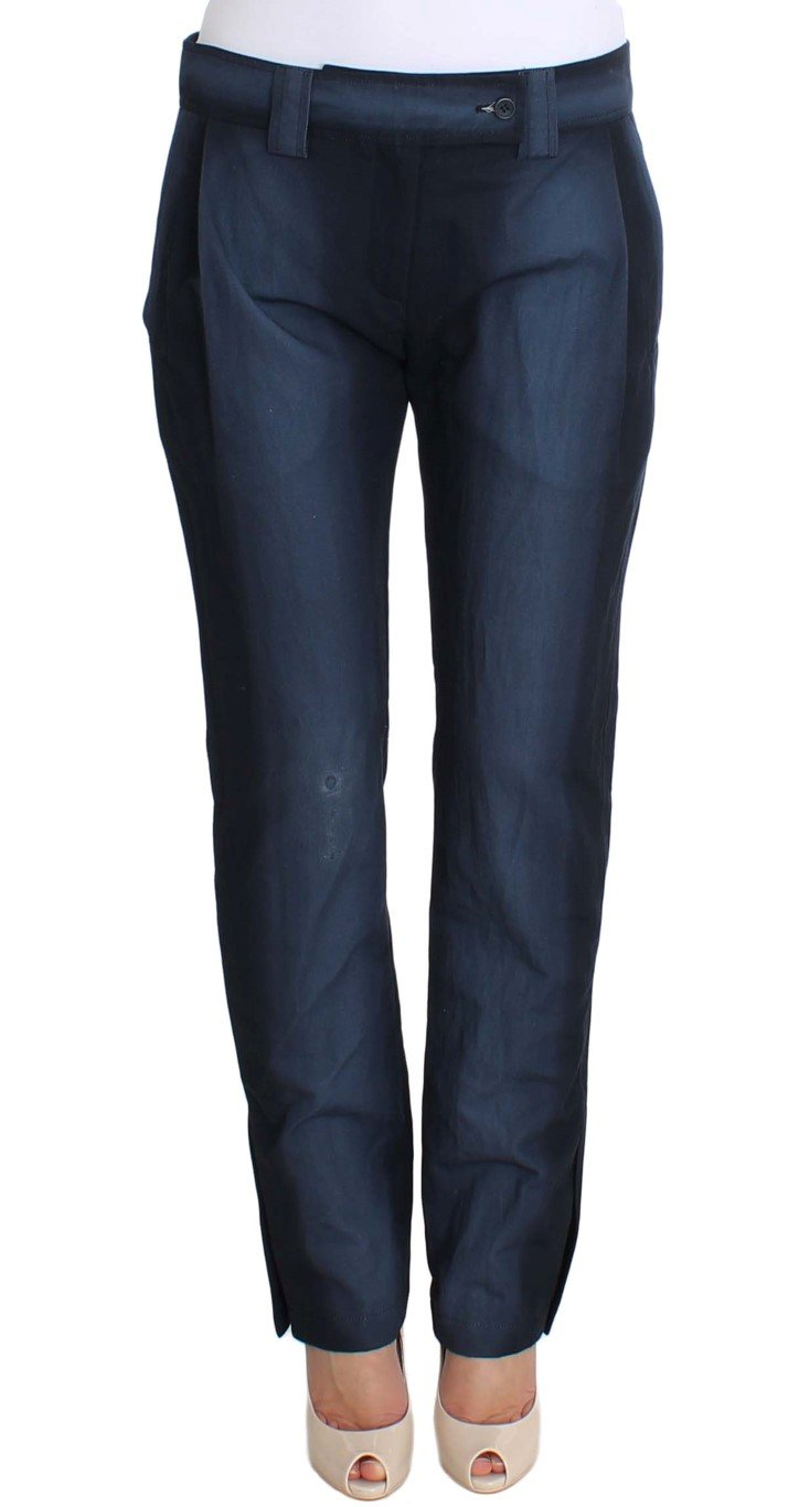 Ermanno Scervino Women's Formal Trousers Blue SIG30379 - IT40 S