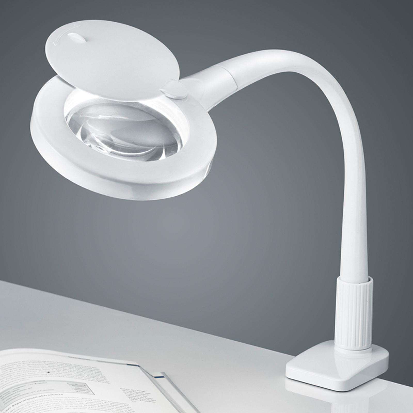Valkoinen LED-klipsivalaisin Lupo