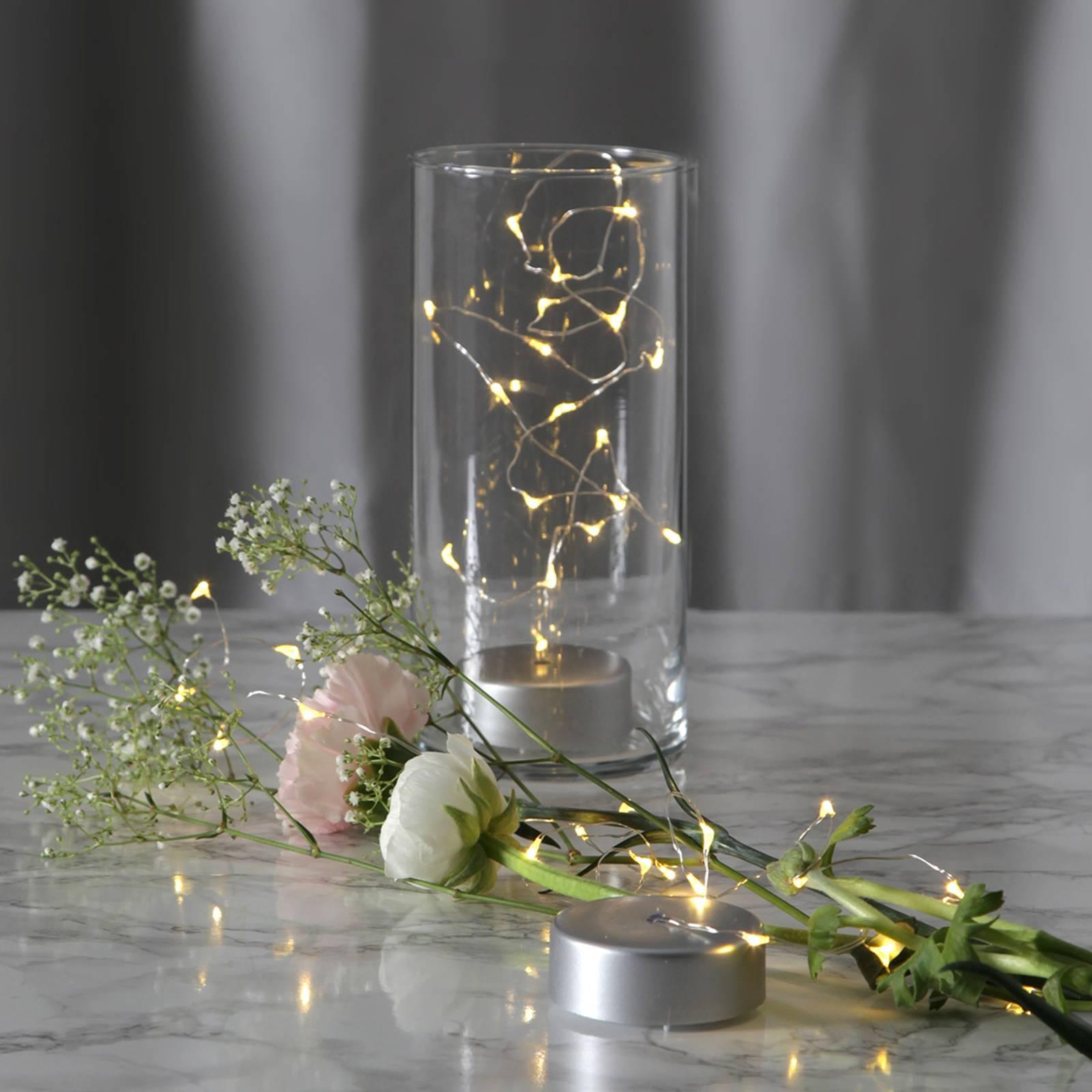 Dew Drops-LED-valoketju paristolla, 100 cm