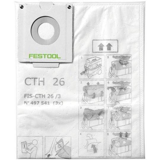 Festool FIS-CTH 48 Turvapölypussi 3 kpl:n pakkaus