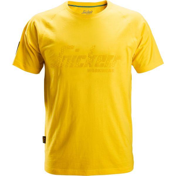 Snickers 2580 T-skjorte gul XS