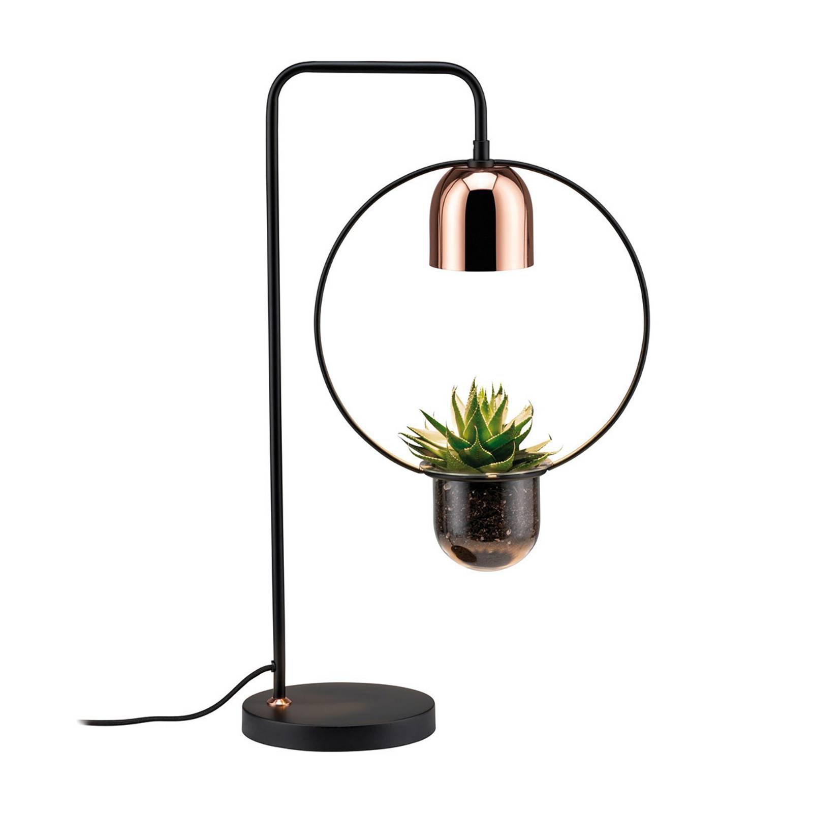Paulmann bordlampe Fanja med plantepotte