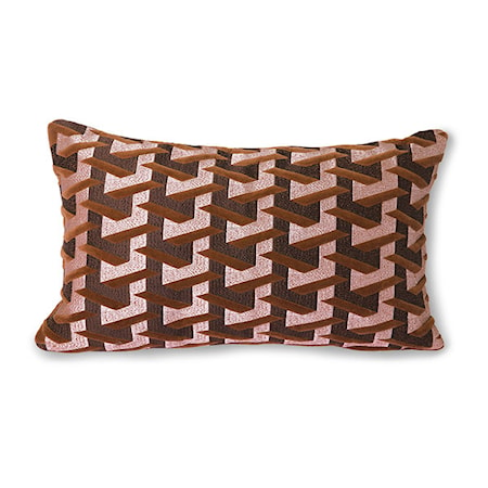 Geometric Kudde Bordeaux 30x50 cm