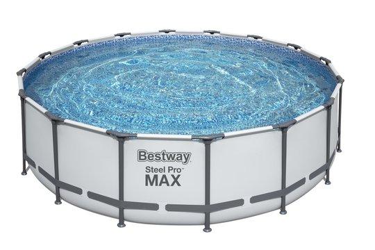 Bestway Steel Pro MAX Basseng m. Tilbehør 4.88m x 1.22m