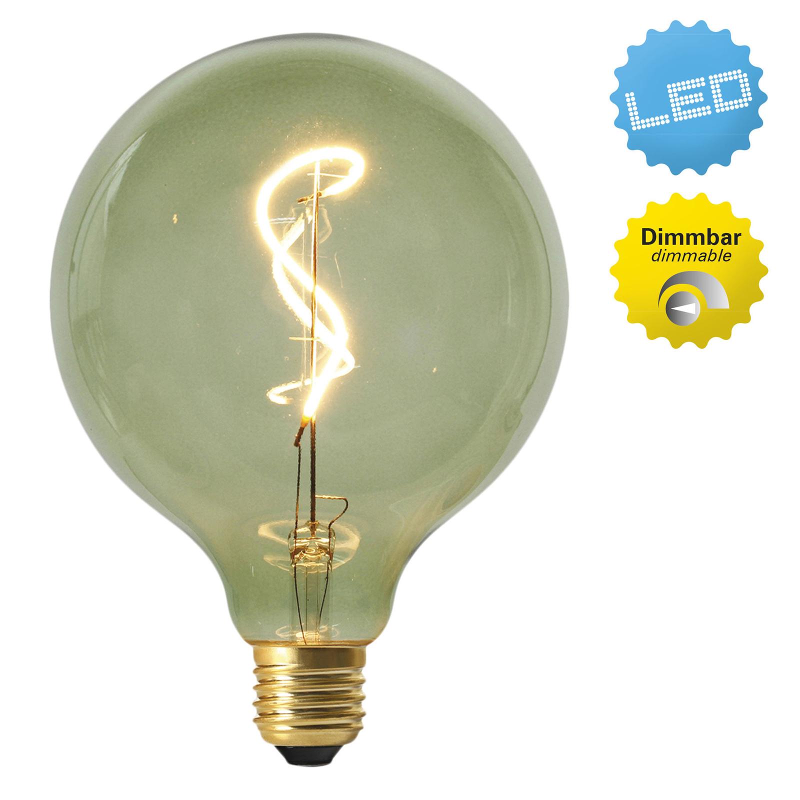 LED-globe-lamppu E27 4W 2 000 K, vihreä