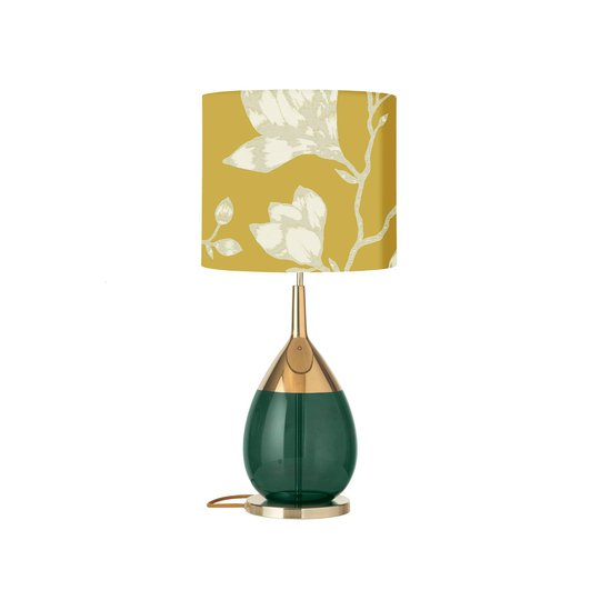 EBB & FLOW Lute bordlampe, Lustica saffran/grønn