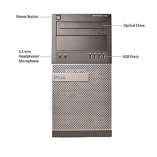 Dell 790 Tower Refurbished Desktop Computer, Intel Core i5 Processor, 8GB Memory, 500GB HDD
