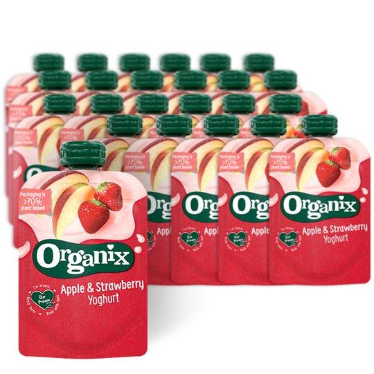 Eko Mellanmål Yoghurt, Äpple & Jordgubb 24-pack - 64% rabatt