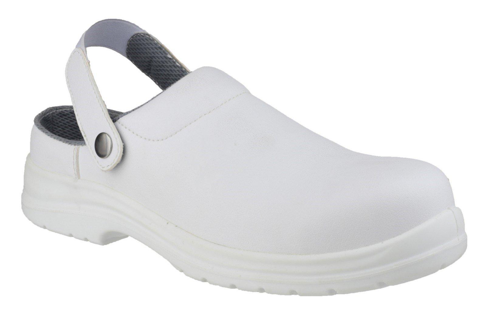 Amblers Unisex Safety Antistatic Slip on Clog Shoe White 21894 - White 3