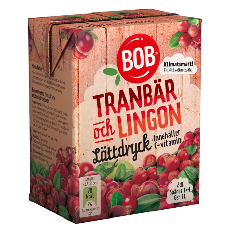 Lättdryck Tranbär & Lingon - 15% rabatt