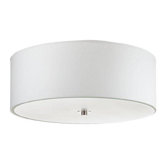 Lucande Patrik taklampe av tekstil Ø48cm hvit