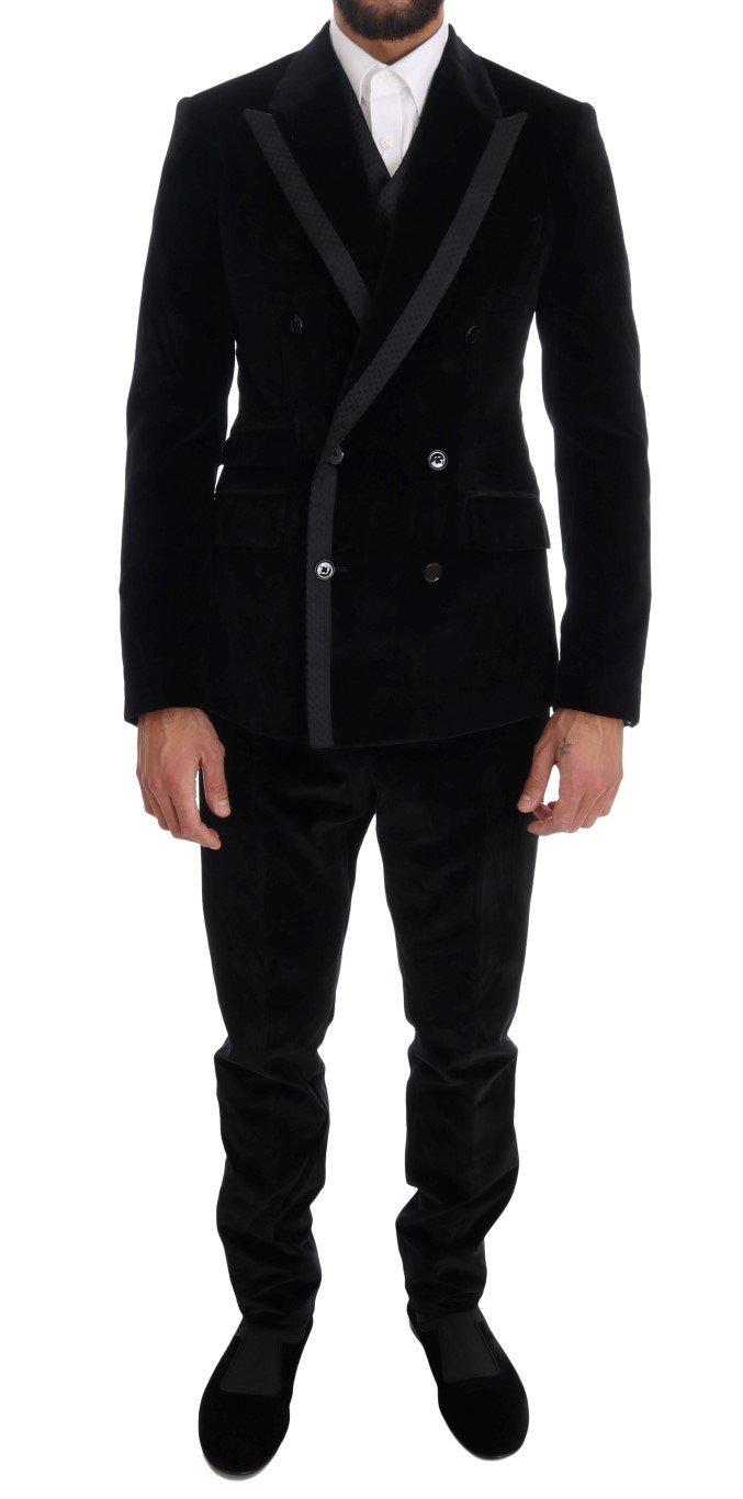 Dolce & Gabbana Men's Slim Double Breasted Suit Beige KOS1132 - IT44 | XS