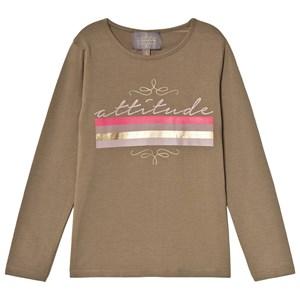 Creamie Attitude T-shirt Covert Green 104 cm (3-4 år)