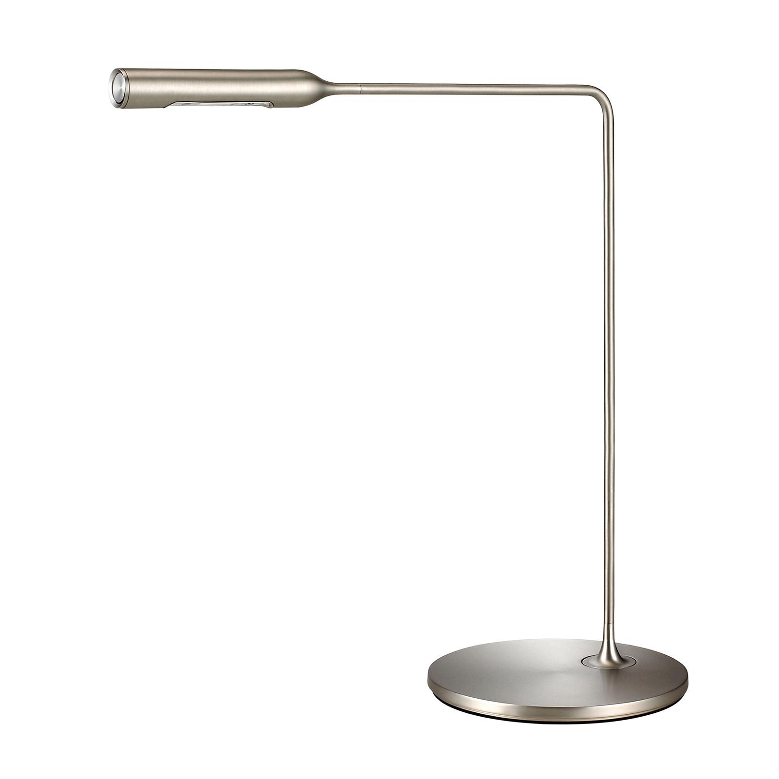 Lumina Flo -LED-pöytälamppu 3 000 K nikkeli