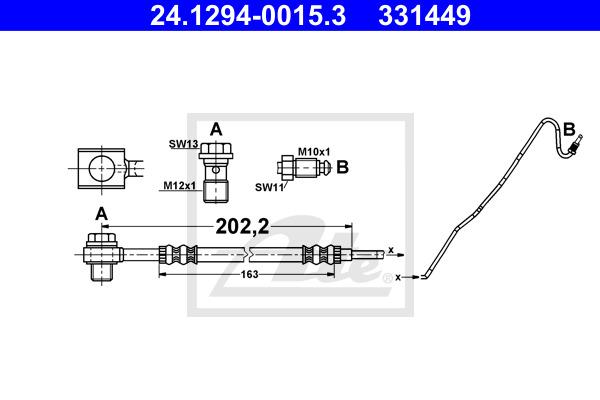 Jarruletku ATE 24.1294-0015.3