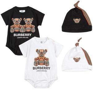 Burberry 4-delat Bear Print Baby Set Vitt 6 mån