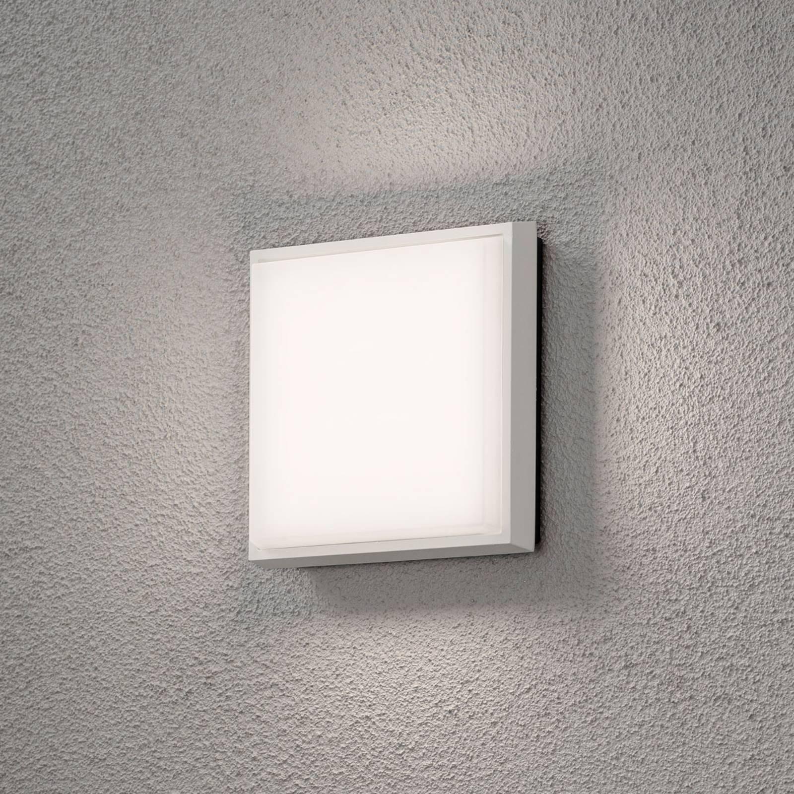 Cesena utendørs LED-vegglampe, kvadratisk