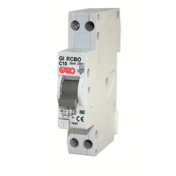Garo RCBO GC C6A 1+N Personbeskyttelsesautomat 1 modul, 6 kA 6 A