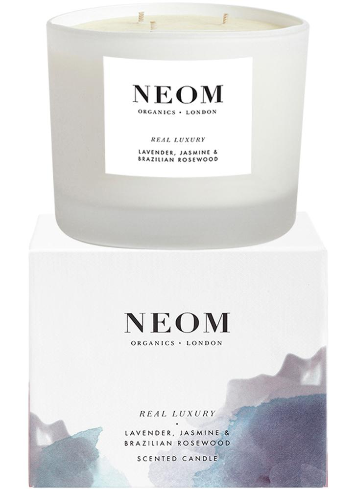 Neom Real Luxury Scented Candle (3 Wicks)
