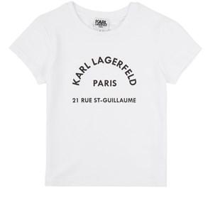 Karl Lagerfeld Kids Mini Me Logo T-shirt Vit 4 år