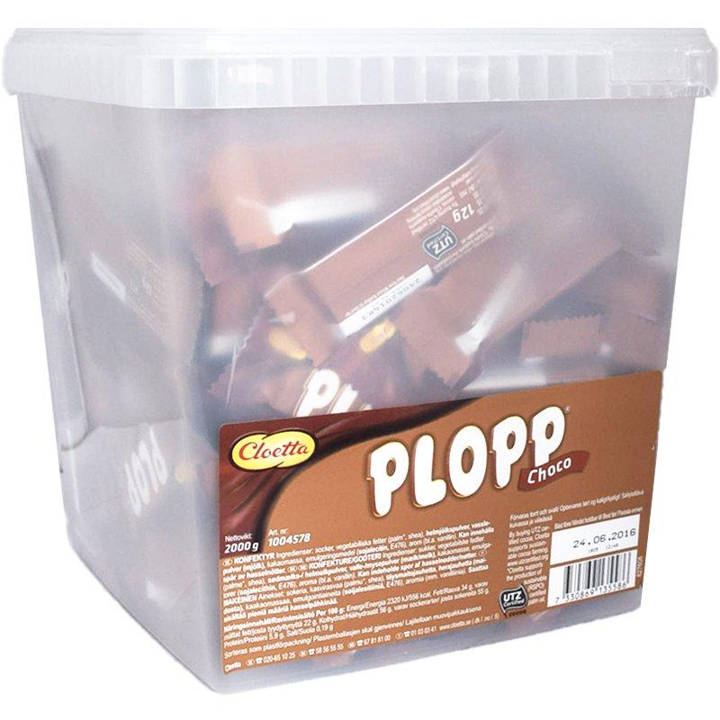 """Hel Låda Plopp """"Choco"""" 2kg - 85% rabatt"""
