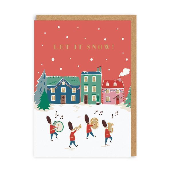 Let It Snow Christmas Band Christmas Card