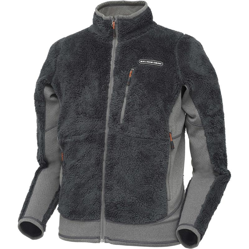 Savage Gear Fleece Jacket L High Loft Fleece - Grey - Simply Savage