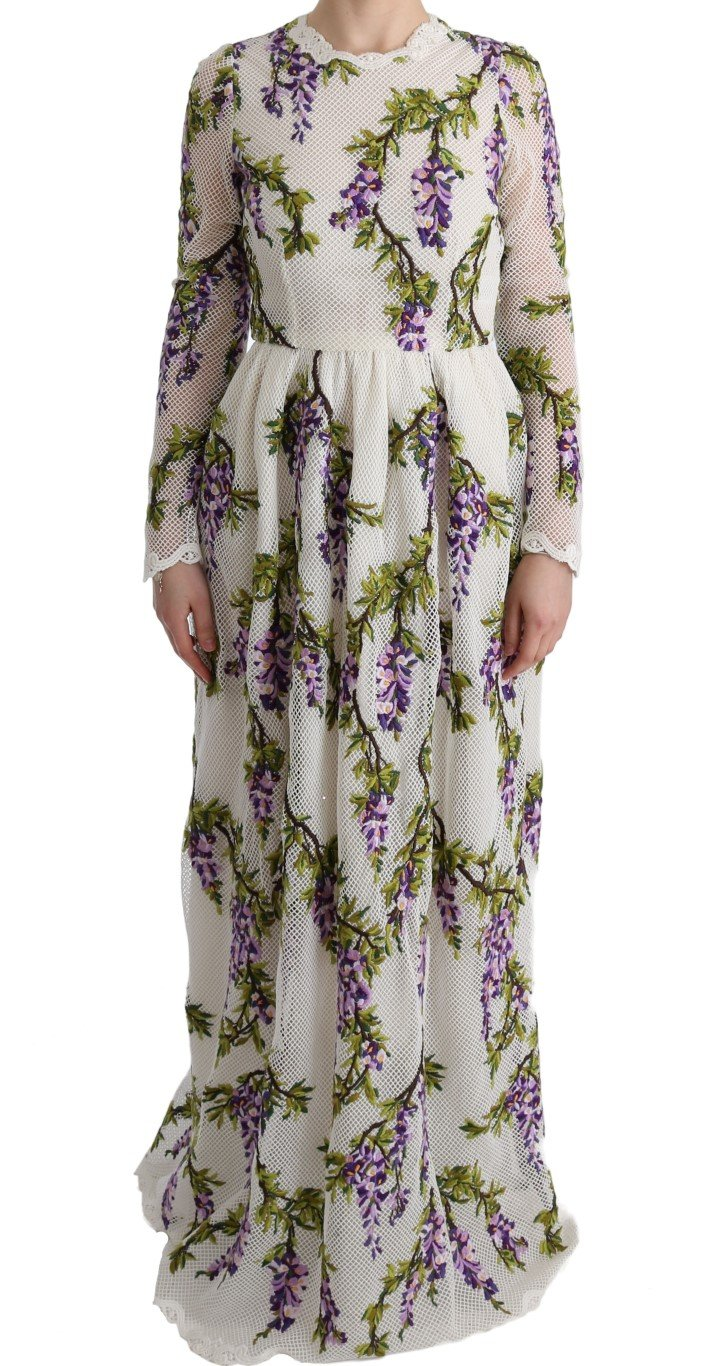 Dolce & Gabbana Women's Floral Embroidered Dress White SIG60559 - IT40 S