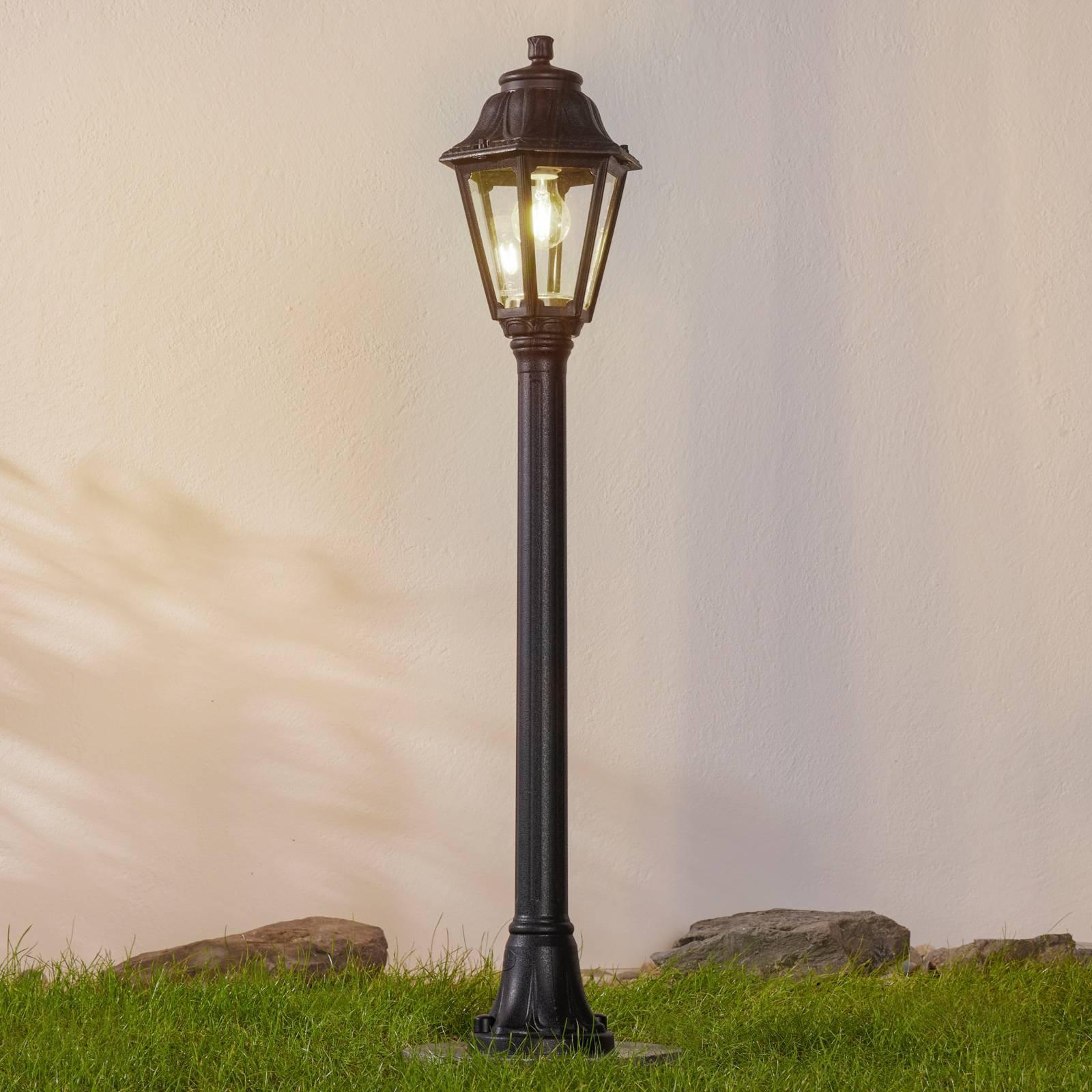 Svart LED-veilampe Mizar Anna, saltvannsresistent