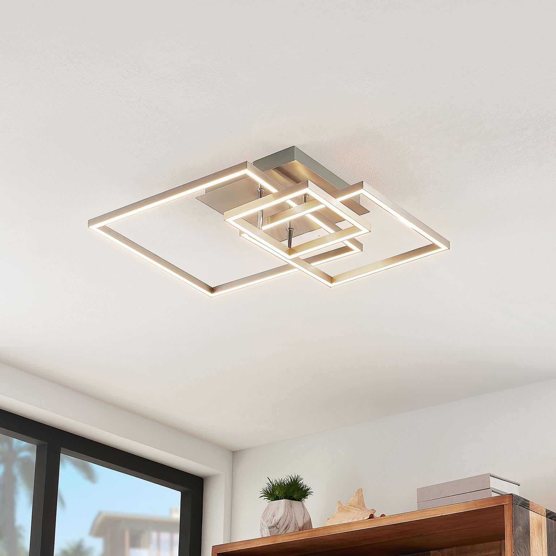 Lindby Katianna LED-taklampe av 3 kvadrater