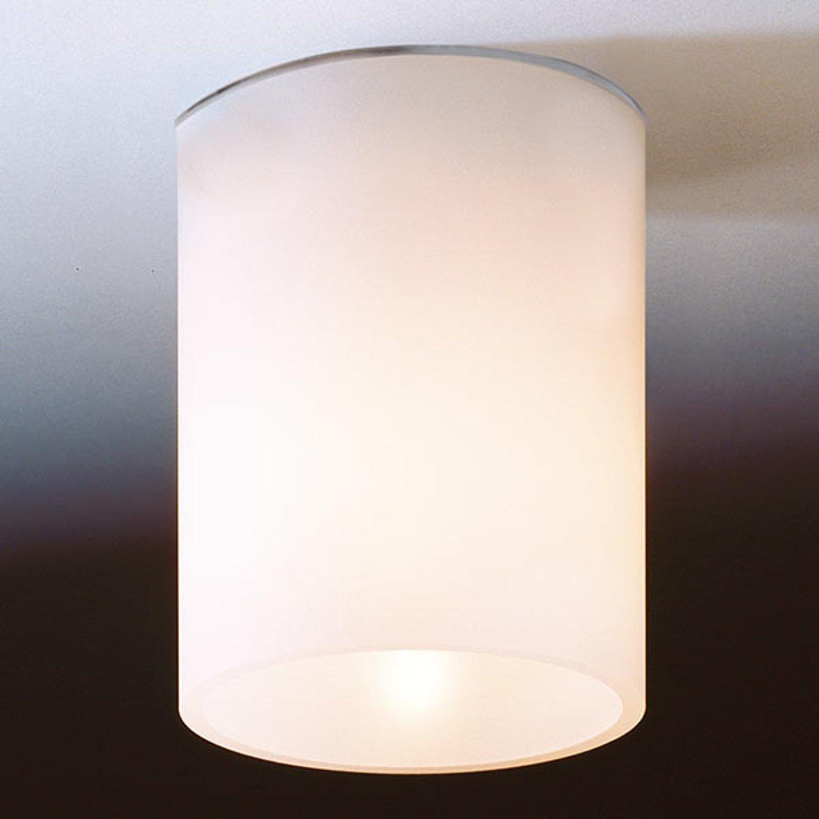 Hvit taklampe DELA SHORT i glass