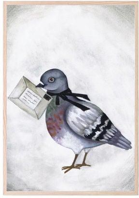 That's Mine Juliste Love Dove Letter 30x40