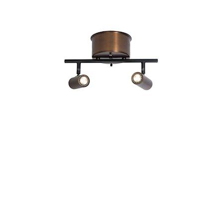 Cato Skinne Oksidert 2-spot Dimbar LED 132 cm